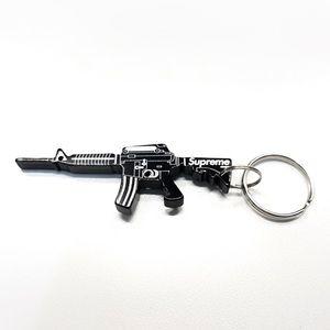 Supreme Gun Bottle Opener Black Keychain